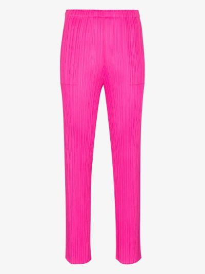 New Colourful Basics plissé trousers
