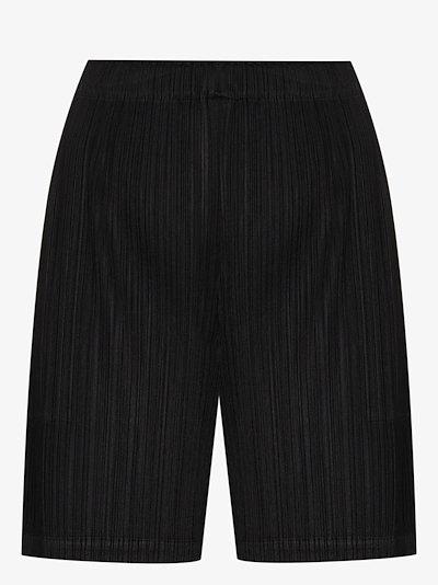 plissé shorts