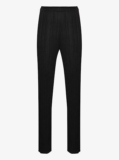 Thicker Bottom high waist plissé trousers