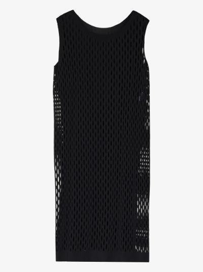 Trickle sleeveless mesh dress