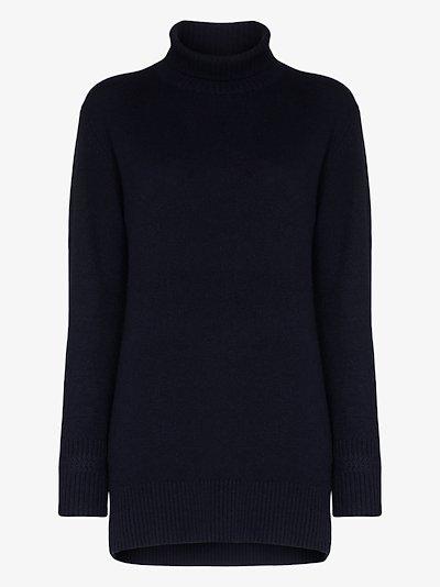 Oversized turtleneck cashmere sweater