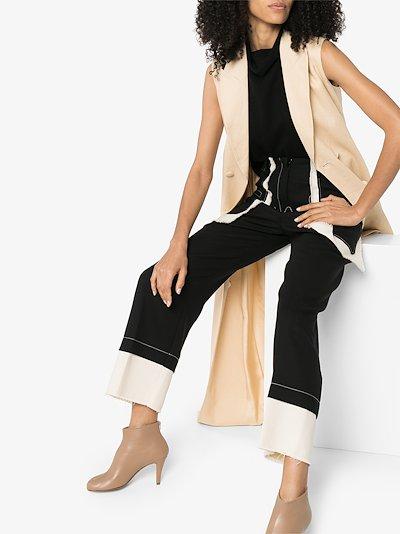 sleeveless turtleneck cashmere top