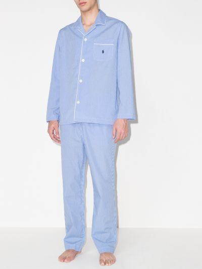 button-up gingham pyjamas