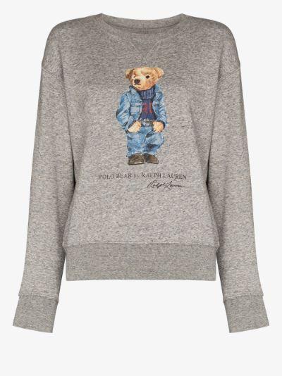 Denim Bear logo sweater