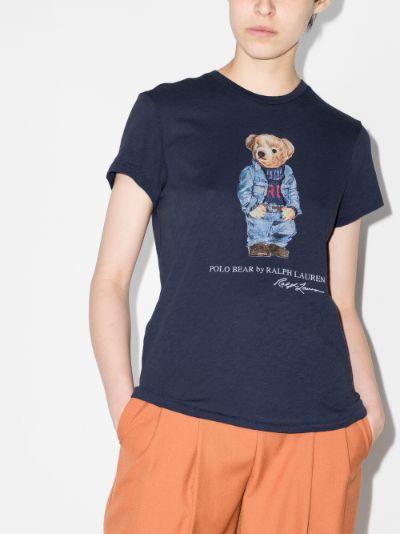 Denim Bear Print T-shirt