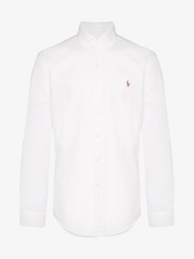 embroidered logo cotton Oxford shirt