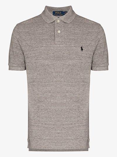 embroidered logo cotton shirt