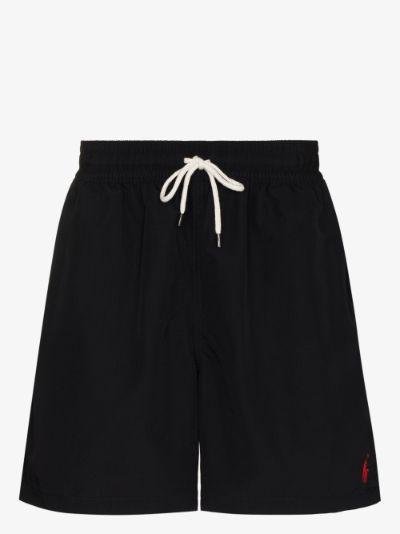 logo embroidered swim shorts