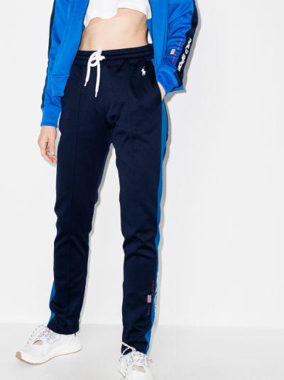 logo fleece track pants