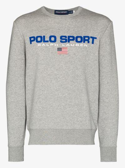 Logo Print Fleece Sweatshirt