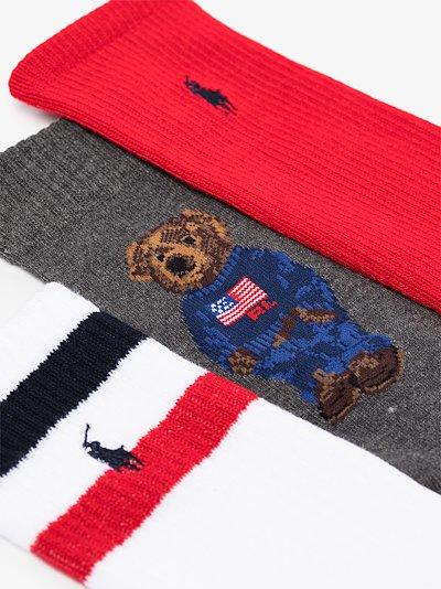 multicoloured embroidered sock set