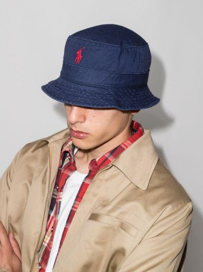 Navy Loft Logo Bucket Hat