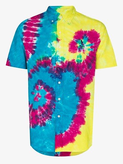 Oxford tie-dye logo shirt