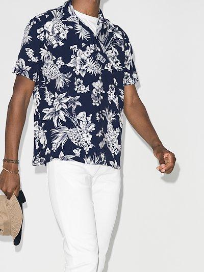 Polo Bear floral print shirt
