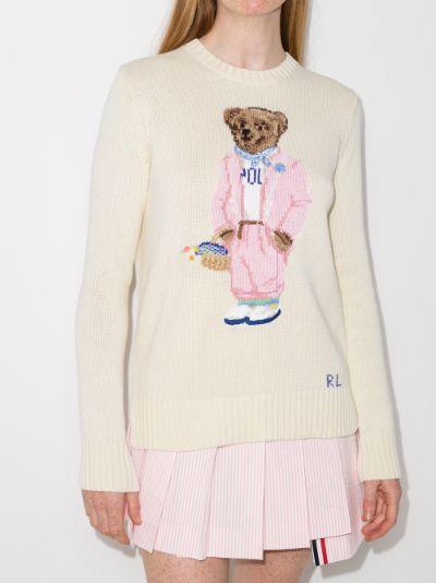 Polo Bear intarsia sweater