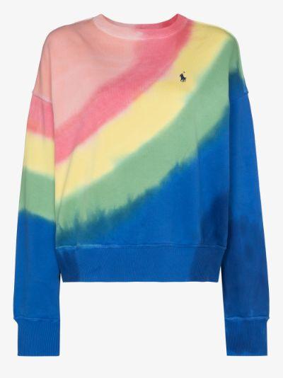 Polo Pony embroidered tie-dye sweatshirt
