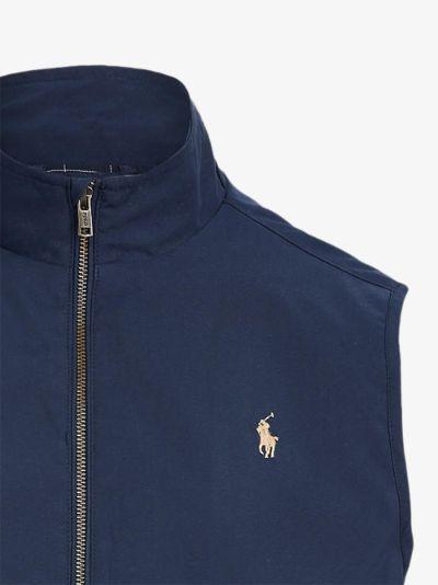 polo pony zipped gilet