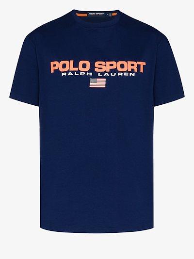 sport logo cotton T-shirt