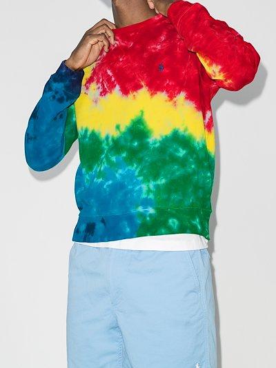 tie-dye cotton sweatshirt