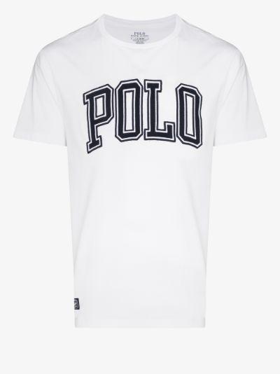 varsity logo print t-shirt