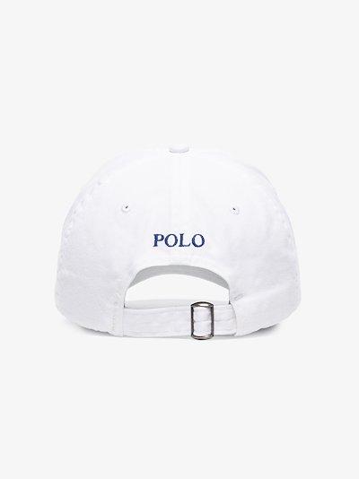 white Classic Sport embroidered logo cap