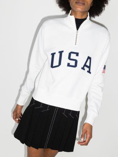 X Browns logo zip-up fleece sweatshirt