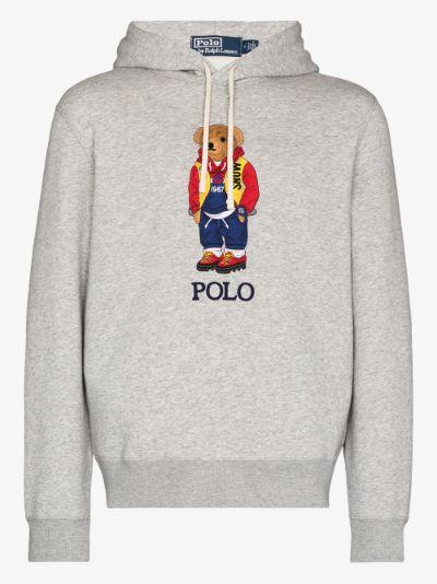 X Browns Polo Bear Hoodie