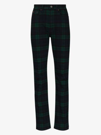 X Browns Reede tartan straight leg jeans