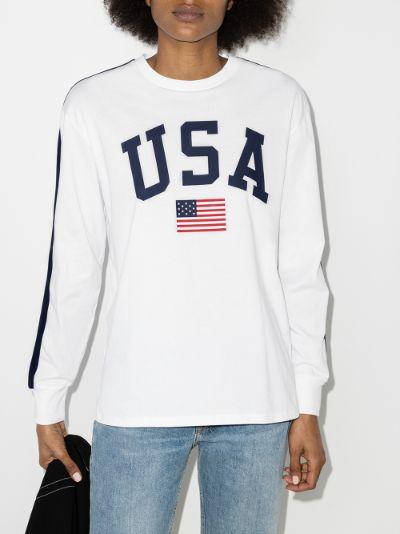 X Browns USA print T-shirt