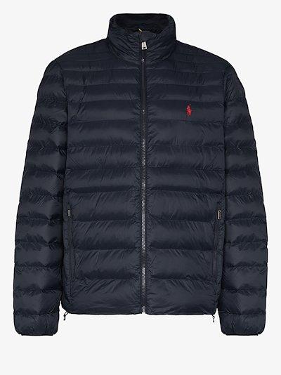 zip-up padded jacket