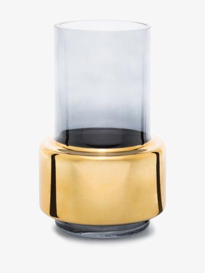 gold tone lobby small vase