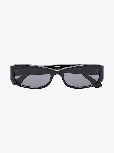 black Leila rectangle sunglasses