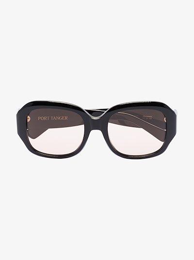black Mauretania round sunglasses