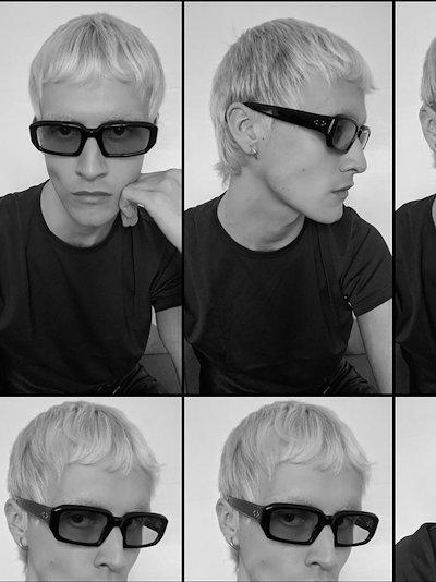 Black Mektoub rectangle sunglasses