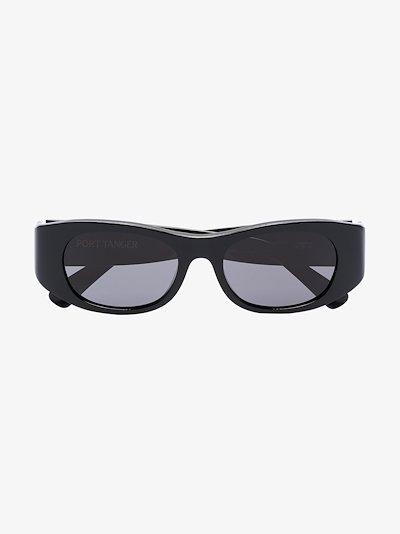 black Tangerine rectangle sunglasses