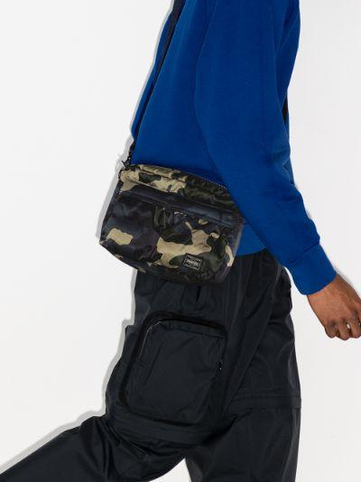 Green camouflage shoulder bag
