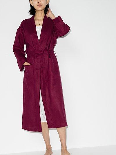 long linen robe