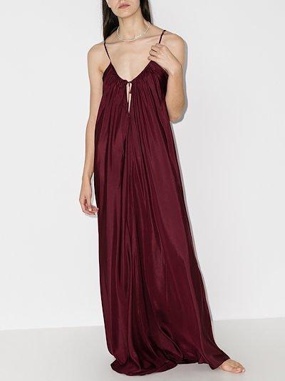 paris silk maxi dress