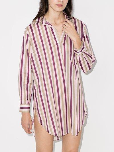 poet striped sleep shirt