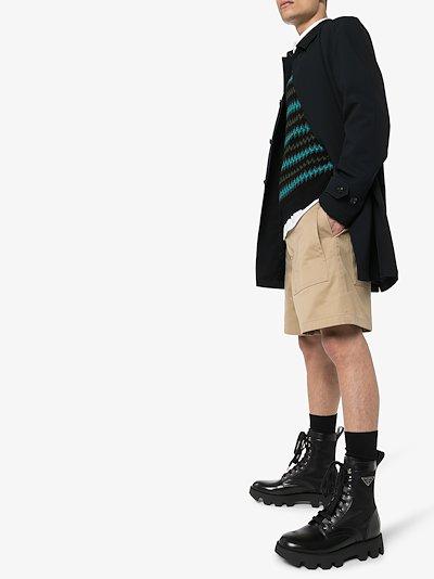 black commando leather boots