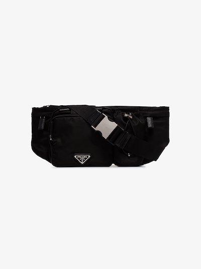 Black logo plaque cross body bag