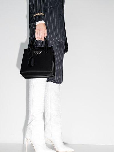 black new logo mini tote bag