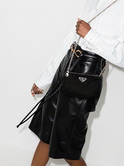 black padded nylon mini bag