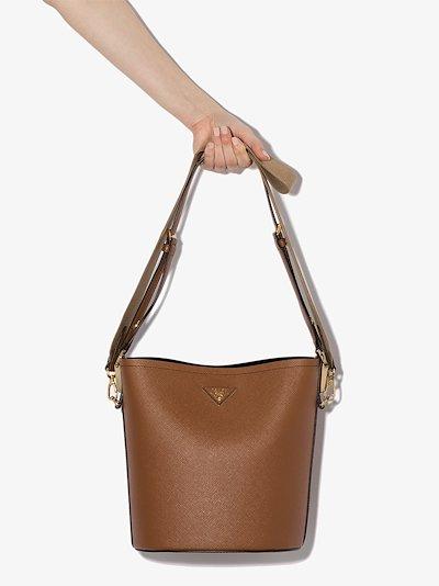 Brown Matinée leather bucket bag
