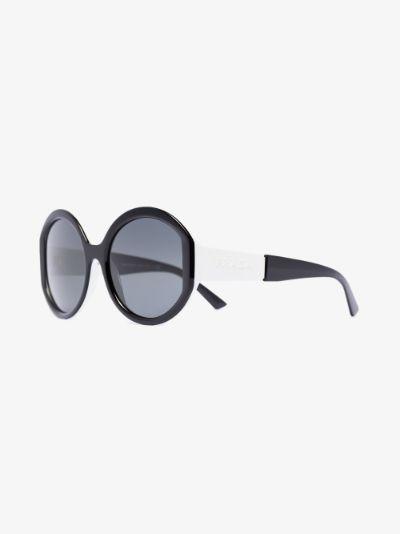 black and white round tinted sunglasses