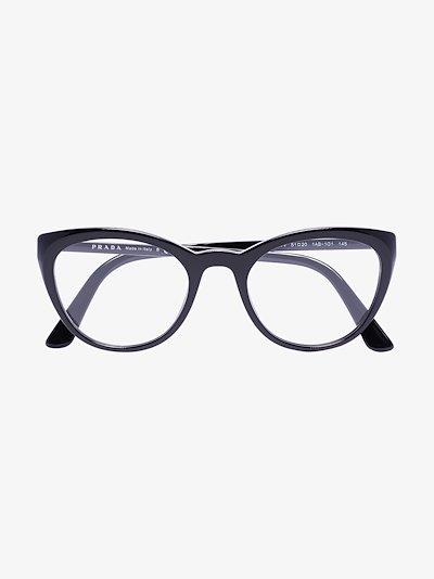 black cat eye optical glasses
