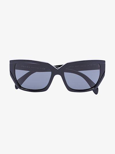 Black cat eye tinted sunglasses