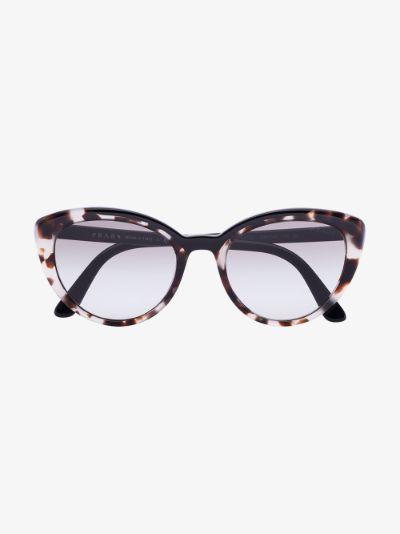 black tortoiseshell cat eye sunglasses