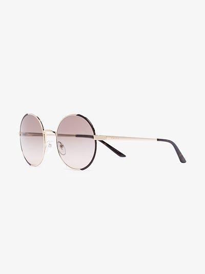 gold tone round sunglasses