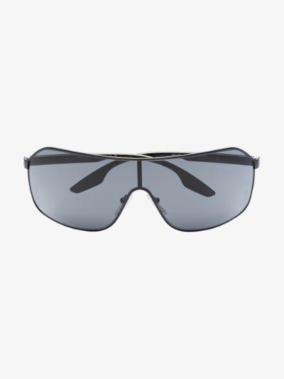 grey sport mirrored aviator sunglasses